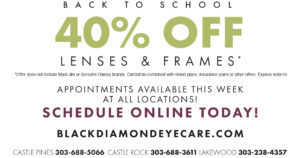Back to school lenses and frames